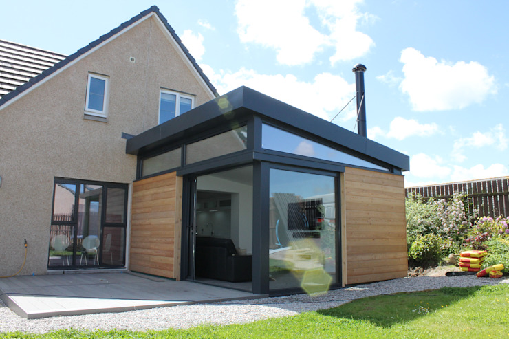 Dab Den House extension - Aberdeenshire Livings modernos: Ideas, imágenes y decoración de Dab Den Ltd Moderno