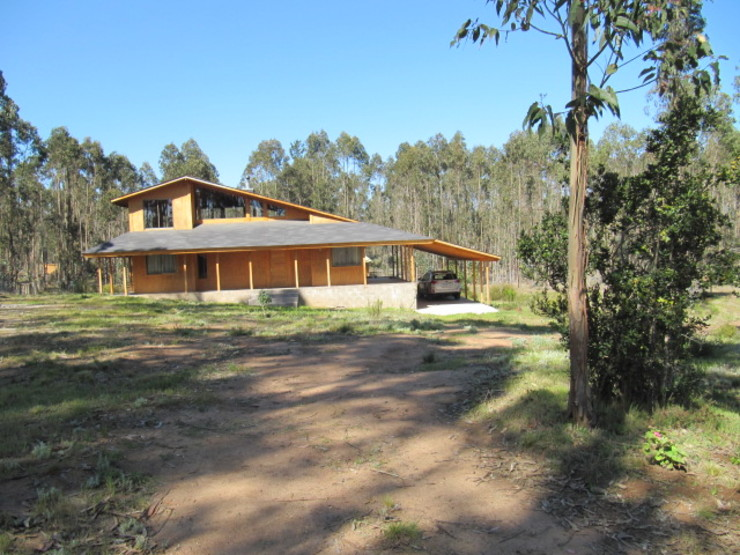 Vivienda Lehmann Casas de estilo rústico de Proyecto ARQ Rústico Madera Acabado en madera