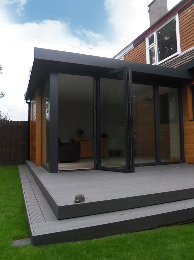 Dab Den extension Dab Den Ltd Modern houses Wood