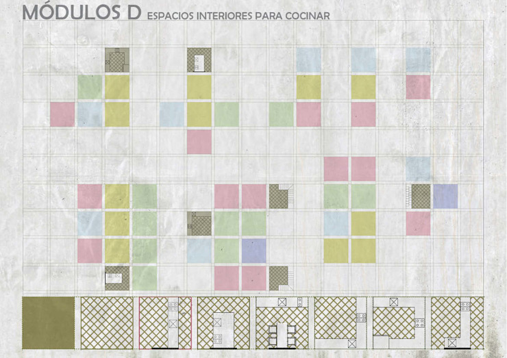 Unidades Mínimas Habitables Cocinas industriales de gOO Arquitectos Industrial