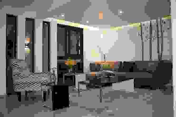 Interiores Zenteno Salones minimalistas de MÈNDEZ arquitectos Minimalista
