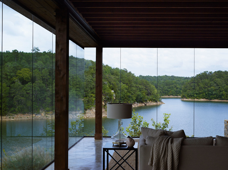 Modern Smith Lake Home Modern Living Room by Christopher Architecture & Interiors Modern