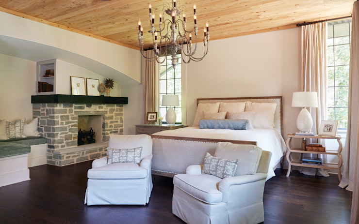 French Normandy Indian Springs Home Classic style bedroom by Christopher Architecture & Interiors Classic