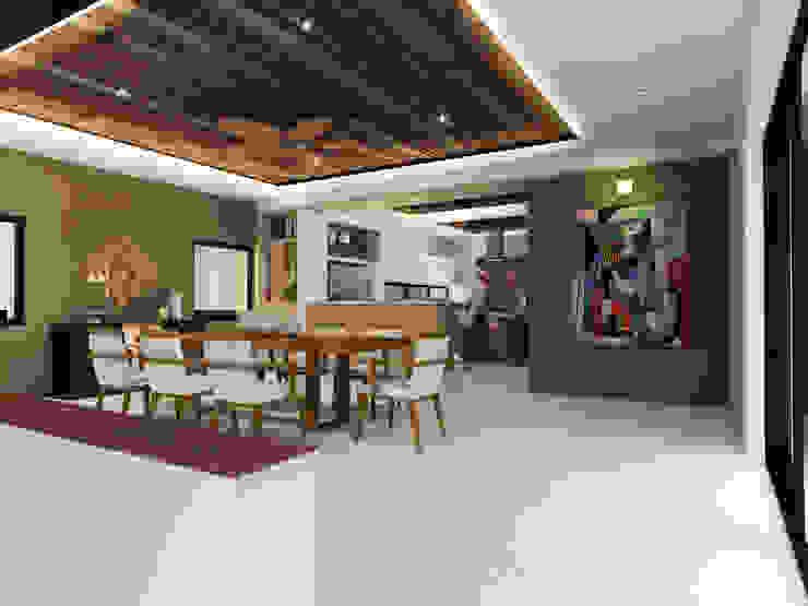 Comedor Comedores minimalistas de Constructora e Inmobiliaria Catarsis Minimalista Madera Acabado en madera