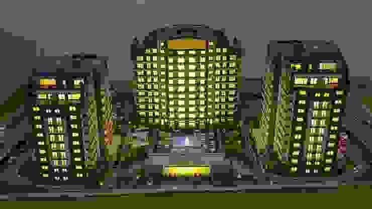 MAG Tasarım Mimarlık İnşaat Emlak San.ve Tic.Ltd.Şti. – TRIOPARK ÇORLU KONUT PROJESİ: modern tarz , Modern