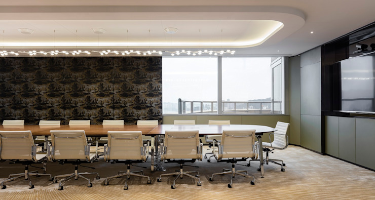 VMS Investment Group Headquarters, Hong Kong, by Aedas Interiors - Conference Room by Architecture by Aedas