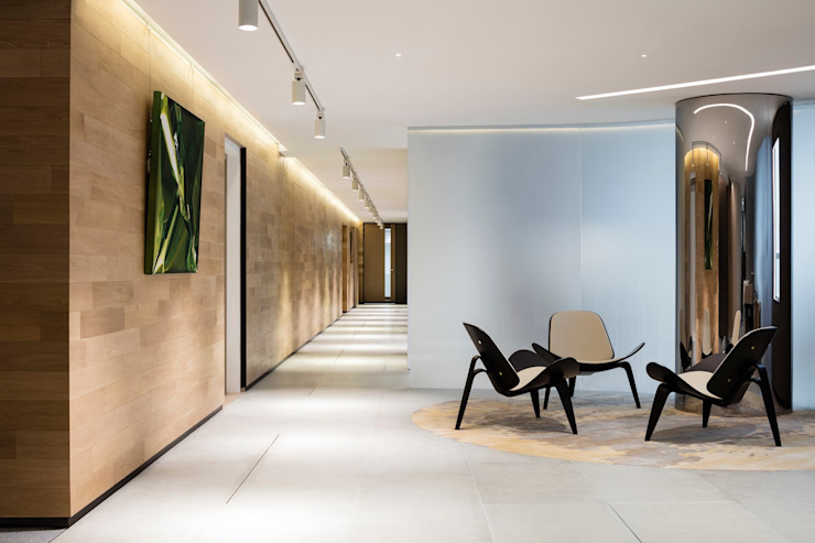 VMS Investment Group Headquarters, Hong Kong, by Aedas Interiors - Reception by Architecture by Aedas