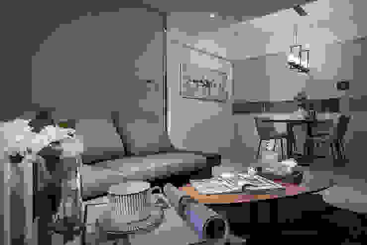 沙發背牆 你你空間設計 现代客厅設計點子、靈感 & 圖片