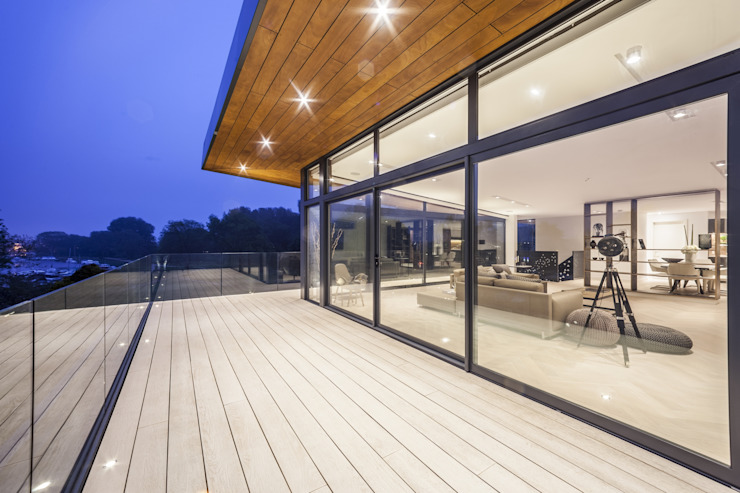 Wick Lane, Christchurch By Jigsaw Interior Design Modern terrace by Jigsaw Interior Architecture Modern Glass