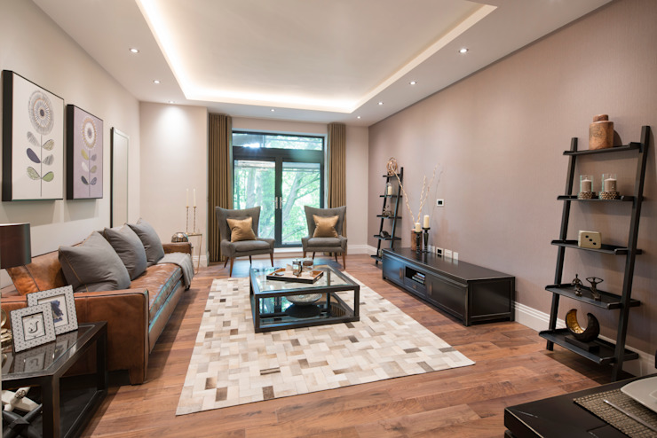 Musewll Hill, London Jigsaw Interior Architecture Living room Copper/Bronze/Brass Brown