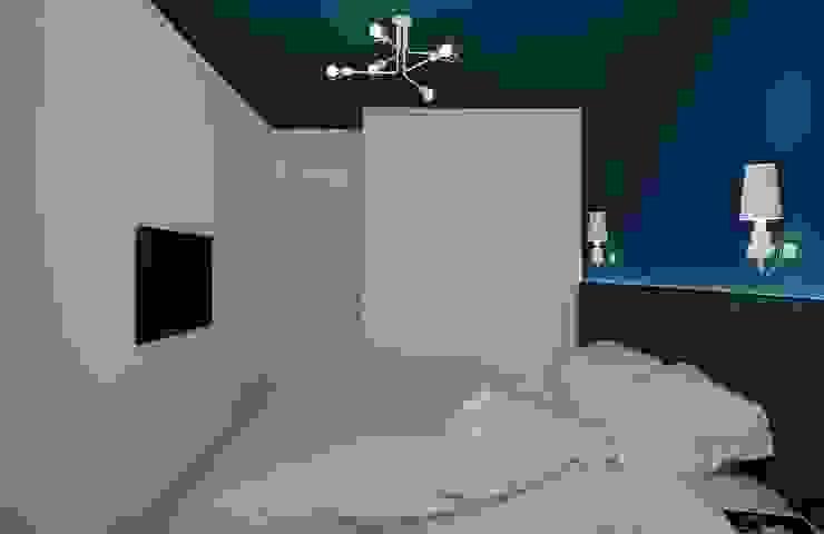 Projekt mieszkania 63m2 w Dąbrowie Górniczej Nowoczesna sypialnia od Ale design Grzegorz Grzywacz Nowoczesny