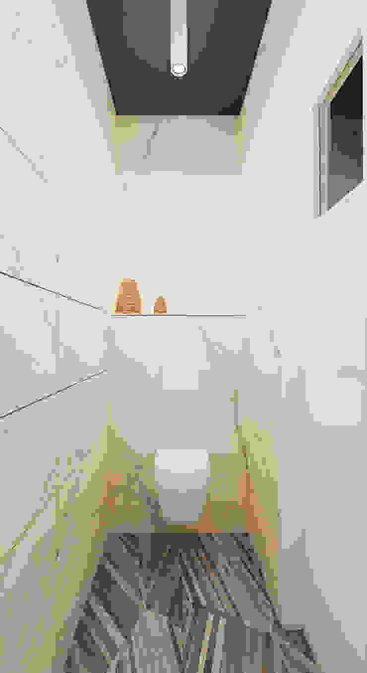Scandinavian style bathroom by Ale design Grzegorz Grzywacz Scandinavian