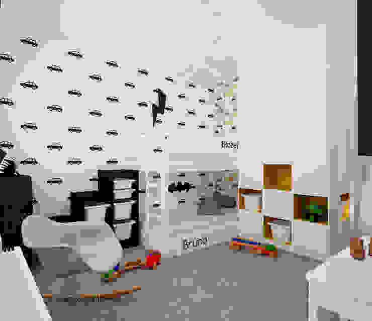 Projekt mieszkania 63m2 w Dąbrowie Górniczej Skandynawski pokój dziecięcy od Ale design Grzegorz Grzywacz Skandynawski