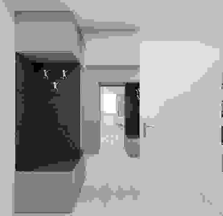 Pasillos, vestíbulos y escaleras minimalistas de Ale design Grzegorz Grzywacz Minimalista