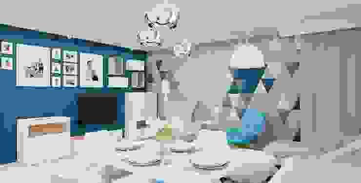 Projekt mieszkania 63m2 w Dąbrowie Górniczej Nowoczesny salon od Ale design Grzegorz Grzywacz Nowoczesny