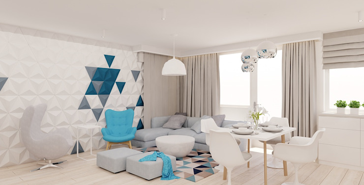 Salas de estar modernas por Ale design Grzegorz Grzywacz Moderno
