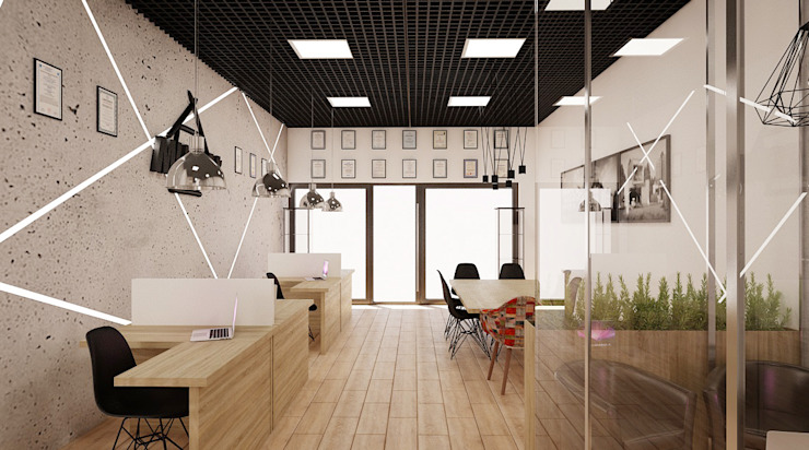 Ale design Grzegorz Grzywacz Modern Study Room and Home Office