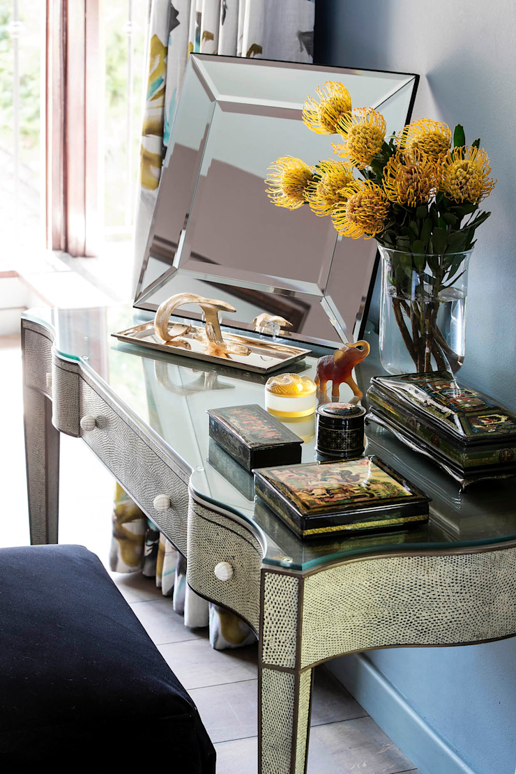 Master Suite Dressing Table by W Cubed Interior Design Eclectic Glass