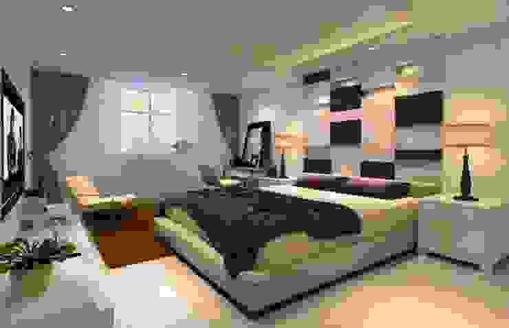 غرفة نوم من القصر للدهانات والديكور حداثي