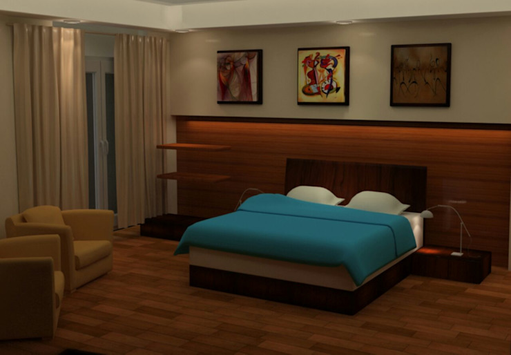 غرفة نوم من القصر للدهانات والديكور كلاسيكي