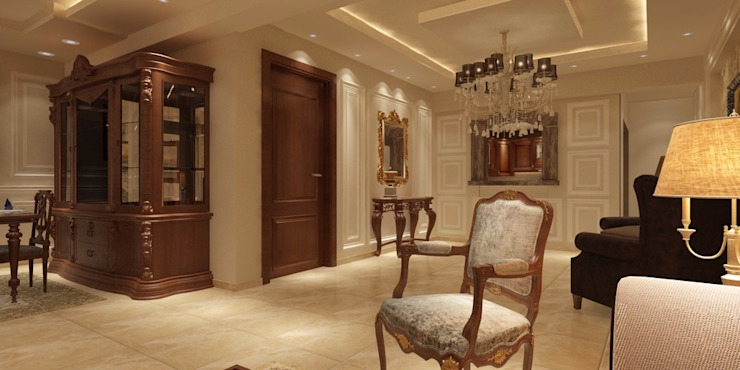 Salas de estilo clásico de القصر للدهانات والديكور Clásico