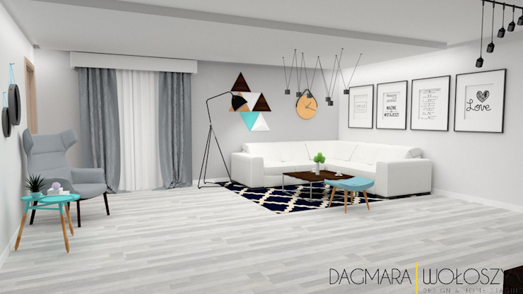 Modern living room by Design & Home Staging Dagmara Wołoszyn Modern
