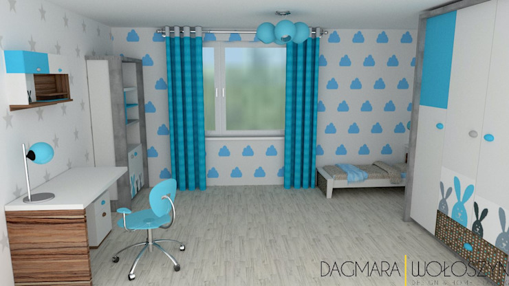 Modern nursery/kids room by Design & Home Staging Dagmara Wołoszyn Modern