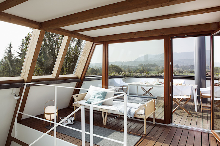 Balcon, Veranda & Terrasse modernes par Moretti MORE Moderne