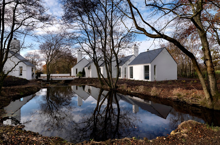 Award winning contemporary house in Co Antrim Casas modernas de Jane D Burnside Architects Moderno
