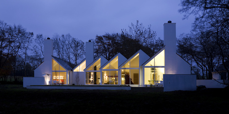 Award winning contemporary house in Co Antrim Casas estilo moderno: ideas, arquitectura e imágenes de Jane D Burnside Architects Moderno
