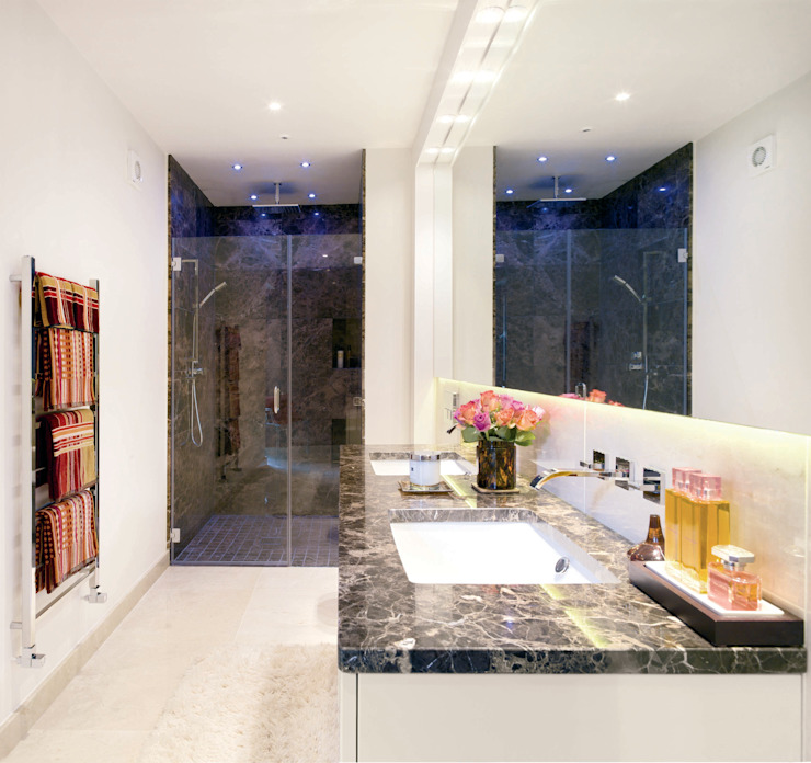 contemporary bathroom design Jane D Burnside Architects Modern style bathrooms