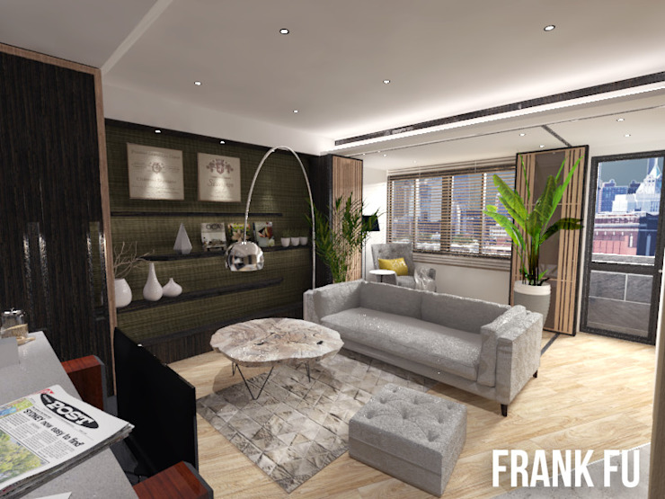 Villa in City 现代客厅設計點子、靈感 & 圖片 根據 中孚 設計 / FRANKFU INERIOR DESIGN 現代風