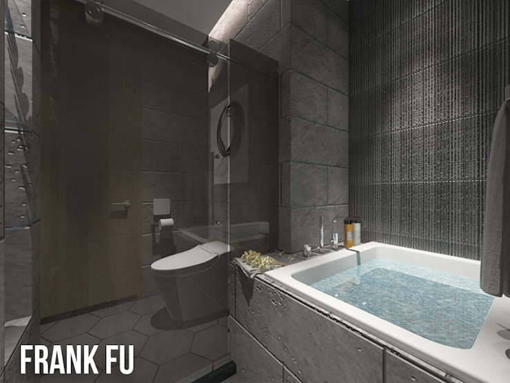 Villa in City 現代浴室設計點子、靈感&圖片 根據 中孚 設計 / FRANKFU INERIOR DESIGN 現代風