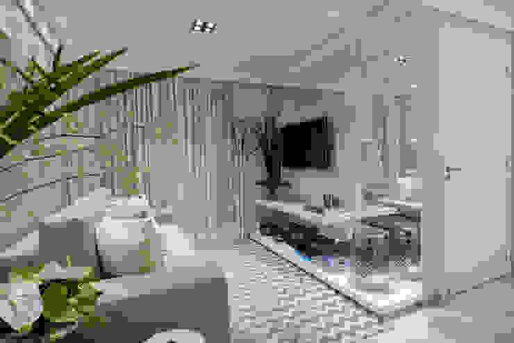 Salones minimalistas de Lívio Andrade arquitetura e ambientação Minimalista
