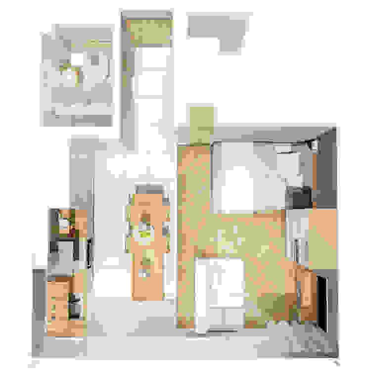 Scandinavian style corridor, hallway& stairs by jw architektura Scandinavian