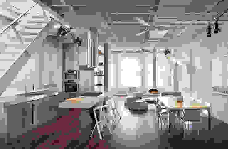 Soho Penthouse Modern Kitchen by SA-DA Architecture Modern