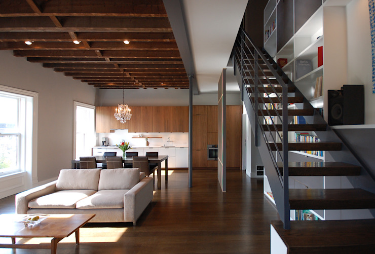 Clinton Avenue Modern Living Room by SA-DA Architecture Modern