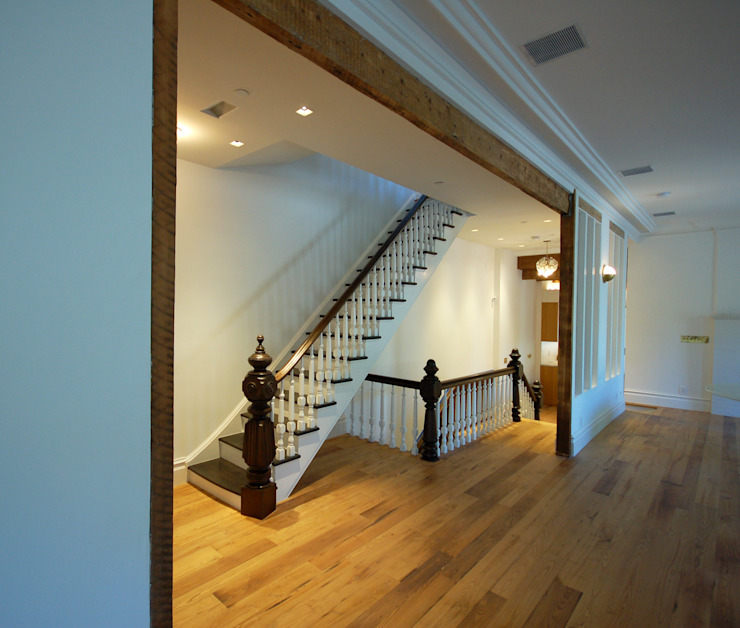Brooklyn Brownstone Modern Corridor, Hallway and Staircase by SA-DA Architecture Modern