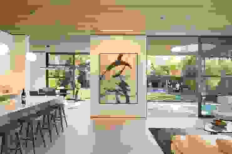 Feldman Architecture 現代風玄關、走廊與階梯