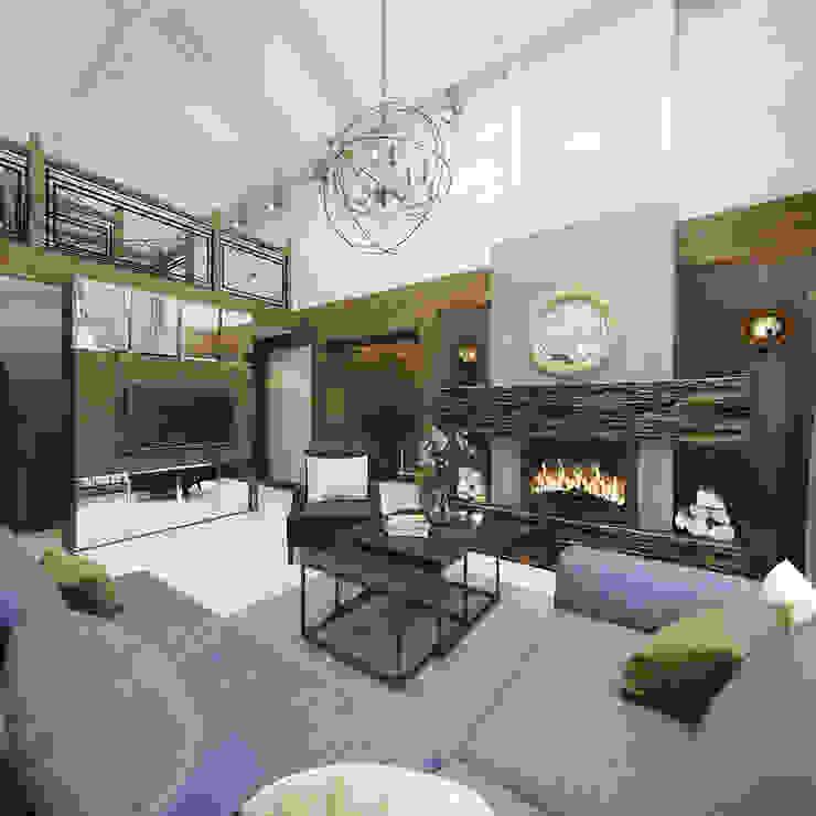 غرفة المعيشة تنفيذ decoroom , ريفي خشب Wood effect
