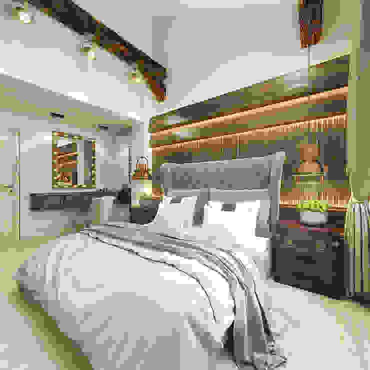 Rustic style bedroom by decoroom Rustic Wood Wood effect