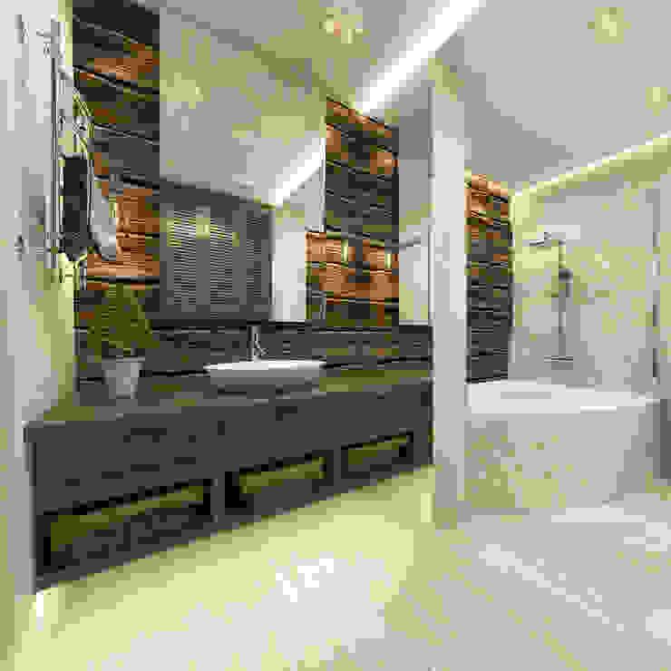 Rustic style bathroom by decoroom Rustic Wood Wood effect