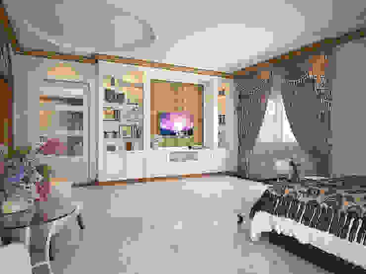 งานออกแบบห้องนอน และห้องทำงาน บ้านคุณ เกรียงไกร / ระยอง: คลาสสิก  โดย SDD Design, คลาสสิค แผ่นไม้อัด Plywood