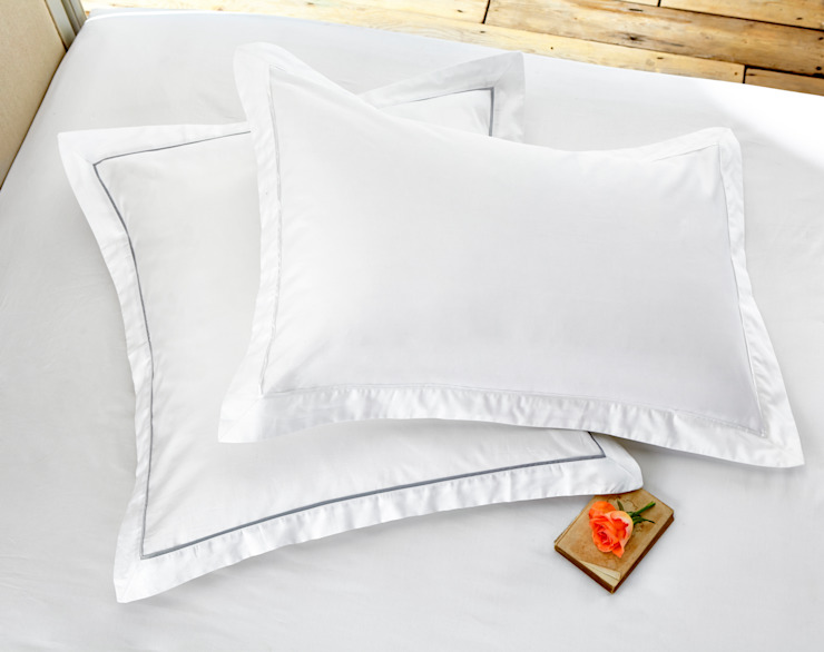 Egyptian Cotton Sateen Hotel Classic Bedlinen de King of Cotton Clásico Algodón Rojo