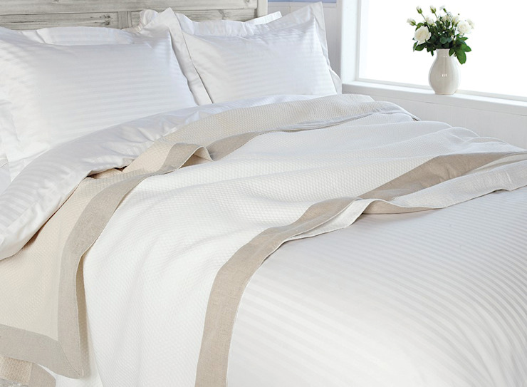 Egyptian Cotton SATIN STRIPE Bed Linen:  Bedroom by King of Cotton,