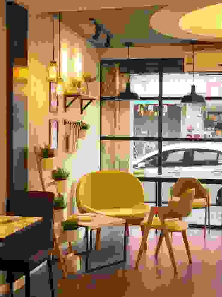 สริน Coffee & Bakery โดย box89 furniture ผสมผสาน แผ่นไม้อัด