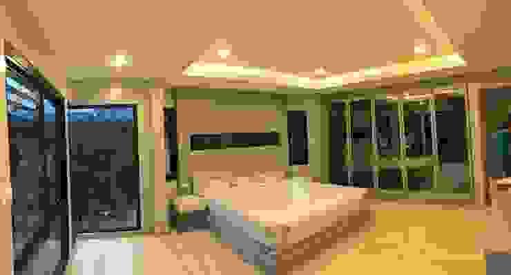 Camera da letto in stile  di สายรุ้งรีโนเวท