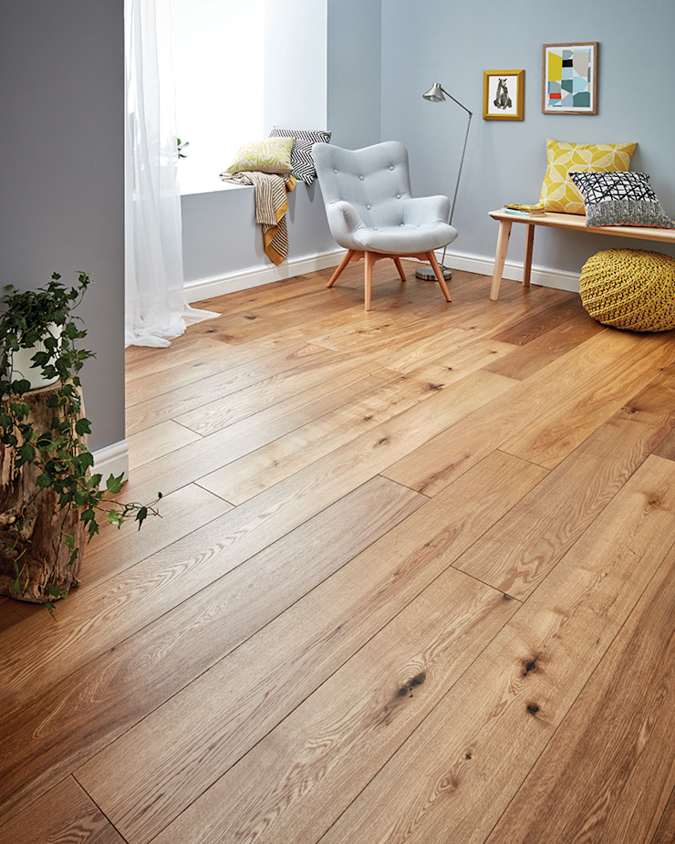 Harlech Smoked Oak by Woodpecker Flooring Country Engineered Wood Transparent