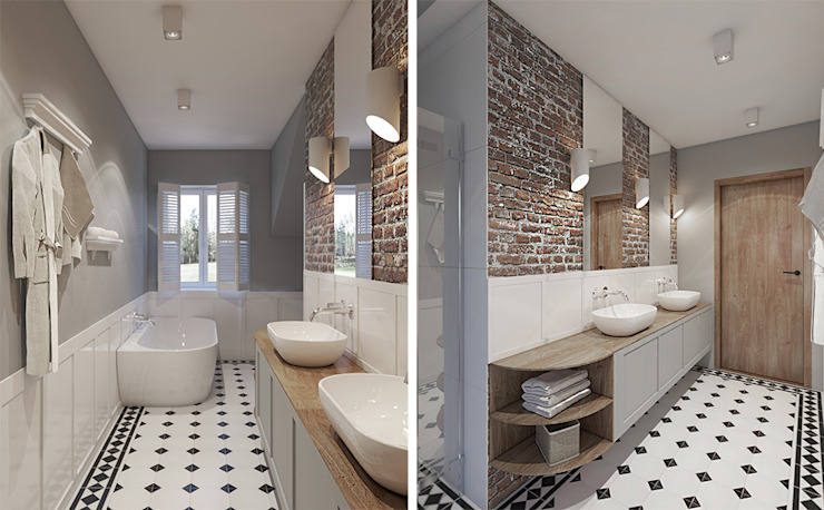 Rustic style bathroom by Studio Projektowe Kreatura Rustic