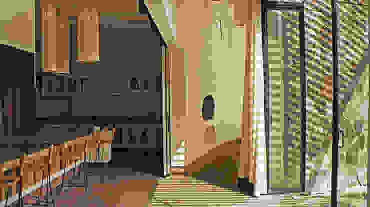 Couloir et hall d'entrée de style  par Juan Carlos Loyo Arquitectura, Moderne